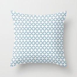 Light Blue Web Throw Pillow