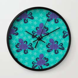 Darien the Hipster Octopus! Wall Clock