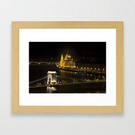 Budapest At Night Framed Art Print