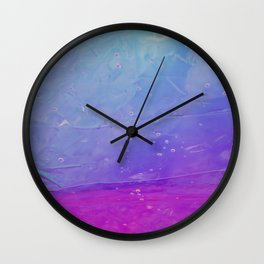 Abstract - blue and pink - Wall Clock