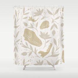 Forest Floor - Gold Shower Curtain