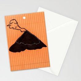 Volcano on Orange Stationery Cards