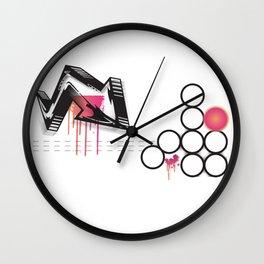 urban calligraphy Wall Clock