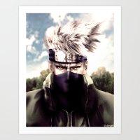 kakashi Art Prints featuring Kakashi Hatake by Shibuz4