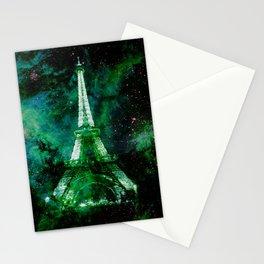 Paris Dreams Green Blue Stationery Cards