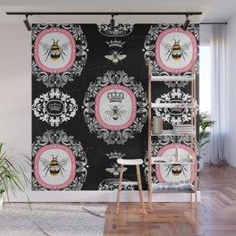 Vintage Bees Wall Mural