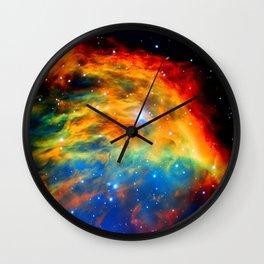 Rainbow Medusa Nebula Wall Clock