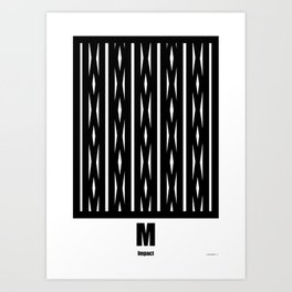 LETTERNS - M - Impact Art Print