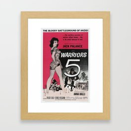 Vintage Film Poster - Warriors Five Framed Art Print