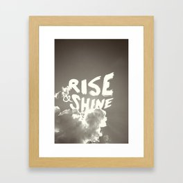 Rise & Shine Framed Art Print