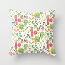 Spring Harvest Pattern Throw Pillow