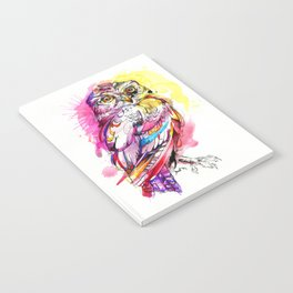 Neon Northern Pygmy Owl Notebook