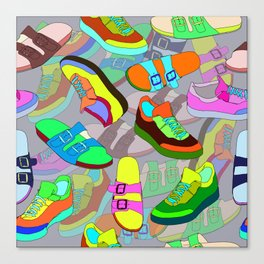 seamless pattern with shoes Canvas Print