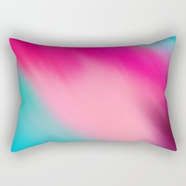 Artistic abstract pink aqua teal watercolor brushstrokes Rectangular Pillow