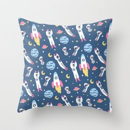 Space People Throw Pillow
