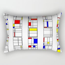 "Math Art Digital Print - ""mondRian"" Rectangular Pillow"