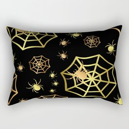 Spiders In Gold Rectangular Pillow
