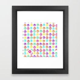 rainbow cats Framed Art Print