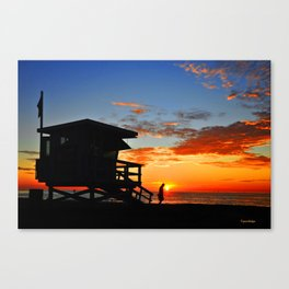 Lone Lifeguard Canvas Print