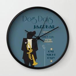 Dog Days Jazz Bar Wall Clock