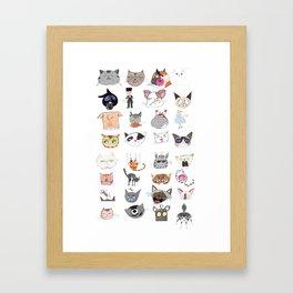 The Many Moods of Cats Framed Art Print