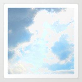 blue, cloud study Art Print