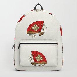 Asian Bird Art Deco Backpack