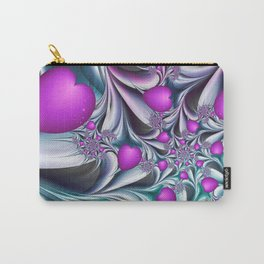Love makes happy Fractal Art Carry-All Pouch