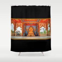 Golden Temple Laos Shower Curtain