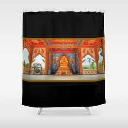 Golden Temple Laos Shower Curtain