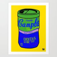 Art Print featuring Campbell's Remix Yellow by Raheem Nelson