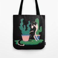botanical Tote Bags featuring Botanical by Hannah Lee Stockdale