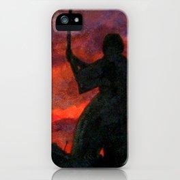 Samurai Sunset iPhone Case