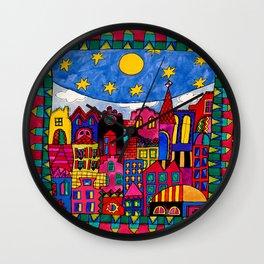 MY FAVORITE CITY Wall Clock
