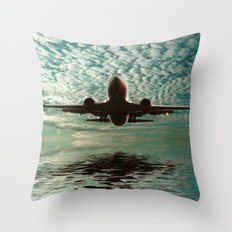 Flight path  Throw Pillow
