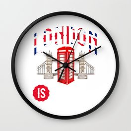 Awesome London Is Calling Skyline UK Wall Clock
