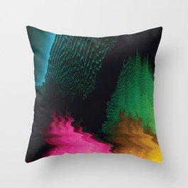 Dreamscape - Glitch Art Throw Pillow