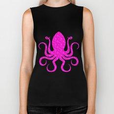 Pink Octopus Biker Tank