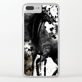 HORSE AND THUNDER Clear iPhone Case