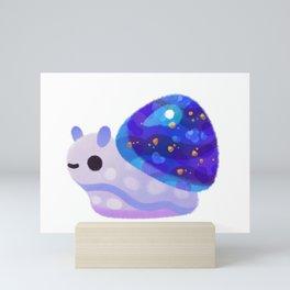 Jewel Snail - pastel Mini Art Print