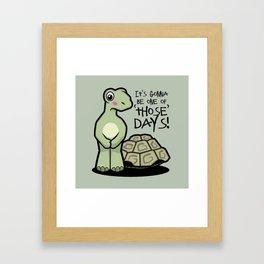 One of Those Days Naked Tortoise Framed Art Print