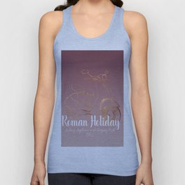 Roman holiday - Audrey Hepburn and Gregory Peck tribute to Unisex Tank Top