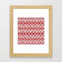 Bohemian Christmas - Ruby Framed Art Print