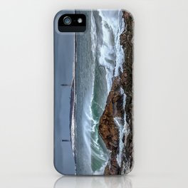 Waves on the back shore 1-30-18 iPhone Case