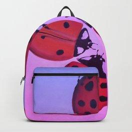 Sunset ladybug circle Backpack