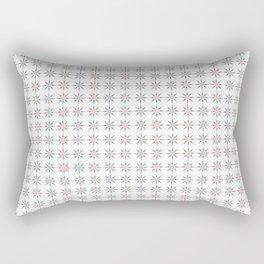 Sun Shine Pattern - Pink Grey White Rectangular Pillow