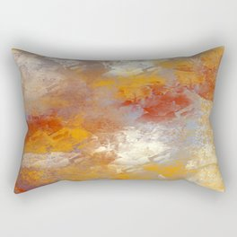 Abstract in Butterscotch, Red, and Gray Rectangular Pillow