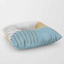 Sunny Ocean Horizon Floor Pillow