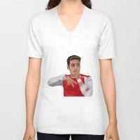 arsenal V-neck T-shirts featuring Mesut Ozil by siddick49