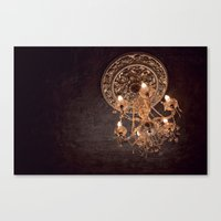 chandelier Canvas Prints featuring chandelier by shannonblue